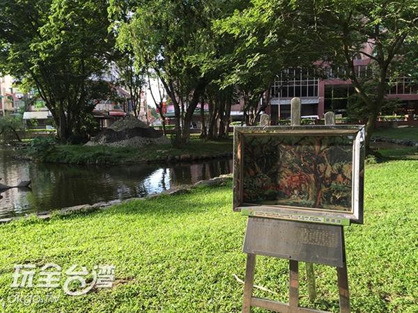 嘉義公園內展出陳澄波先生的精美畫作/玩全台灣旅遊網特約記者Joe鄭攝