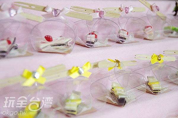 超可愛的蛋糕造型髮夾/玩全台灣旅遊網特約記者陳健安攝