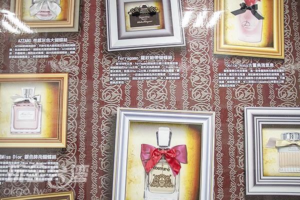 牆上更展示著各式各樣優雅美麗的蝴蝶結式樣/玩全台灣旅遊網特約記者陳健安攝