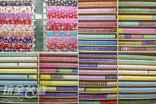 比色票還要齊全的緞帶櫃/玩全台灣旅遊網特約記者陳健安攝
