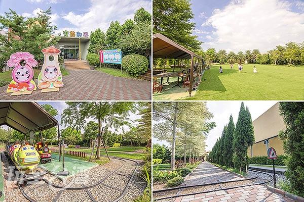 園區除了有DIY菇農館,還有小火車及大草原可嬉戲遊玩/玩全台灣旅遊網特約記者陳健安攝