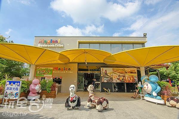 售票處一旁便是主題商店/玩全台灣旅遊網特約記者陳健安攝