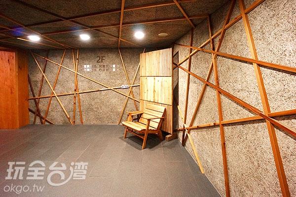 1F樓梯間/玩全台灣旅遊網特約記者小綠攝