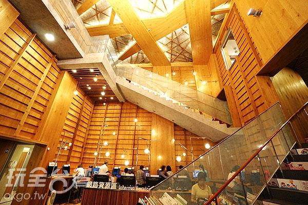 一樓大廳及網路資源區/玩全台灣旅遊網特約記者小綠攝