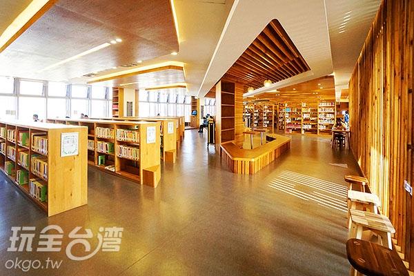 3F藏書區及閱讀區/玩全台灣旅遊網特約記者小綠攝
