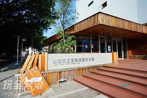圖書館門口/玩全台灣旅遊網特約記者小綠攝