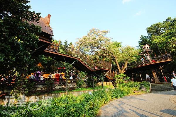 奧爾森學堂可以讓小朋友穿梭在樹屋之間/玩全台灣旅遊網攝