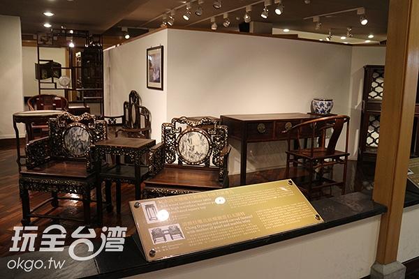 以情境方式展示不同年代的特色傢俱/玩全台灣旅遊網特約記者黃琮瑜攝
