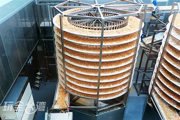 在觀光工廠內可看見方塊酥的生產過程。/玩全台灣旅遊網攝