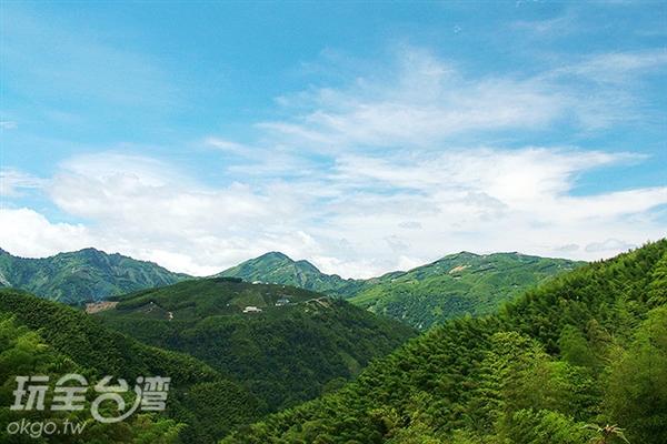 除了竹海可欣賞外,這邊的雲海也是不容錯過的唷!/玩全台灣旅遊網攝