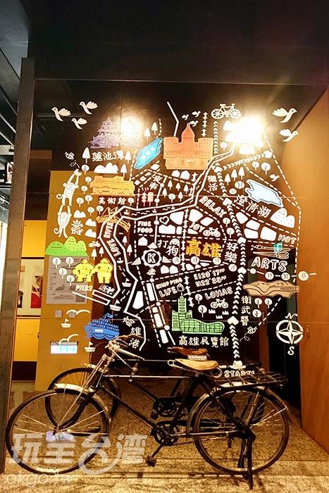 此陳列復古腳踏車為馬玉山創辦人當初創業時重要的交通工具/玩全台灣旅遊網特約記者蔡忻容攝