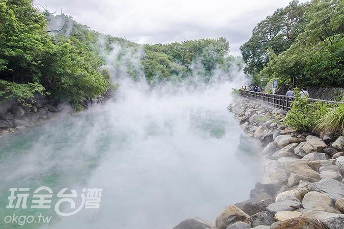 白煙裊裊宛如仙境一般/玩全台灣旅遊網特約記者陳健安攝