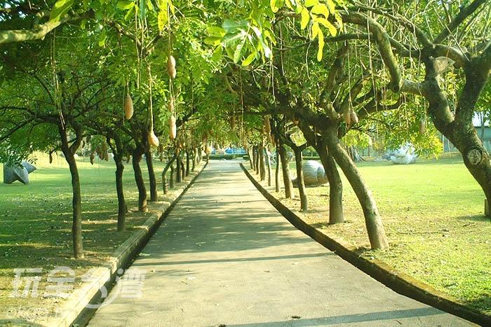 裡面還有綠色大道讓遊客悠閒地散步/玩全台灣旅遊網攝
