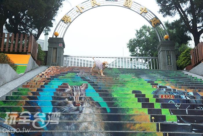 結合百年校園及在地特色的藝術彩繪/玩全台灣旅遊網吳明倫攝