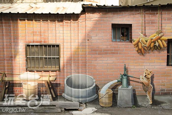 彩繪主題也完整呈現傳統鄉村生活景致/玩全台灣旅遊網特約記者陳健安攝