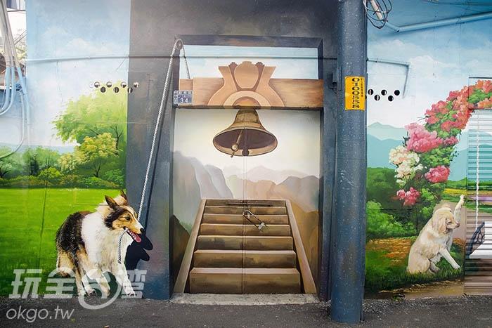 讓忠犬搖響幸福的鐘聲吧!/玩全台灣旅遊網特約記者陳健安攝