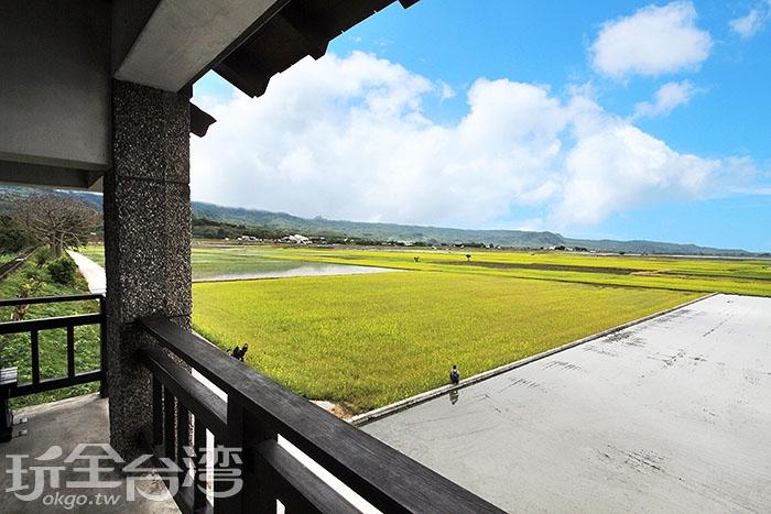 這裡地勢偏高,可直接遠眺伯朗大道/玩全台灣旅遊網攝