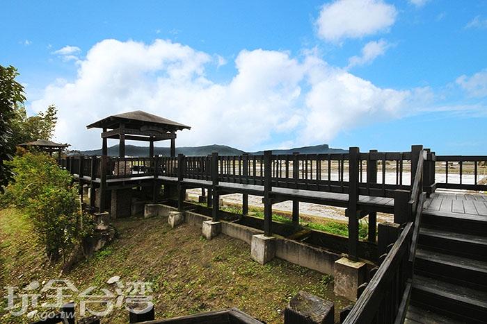 浮圳大觀亭是木造的涼亭,透露著日式氣息/玩全台灣旅遊網攝