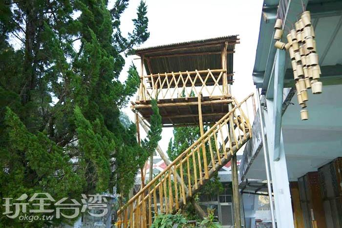 泰雅族人十分重視家庭,所有建築均以家屋為主,其中又以這種具防衛性質的望樓最為突出。/玩全台灣旅遊網特約記者smallting攝