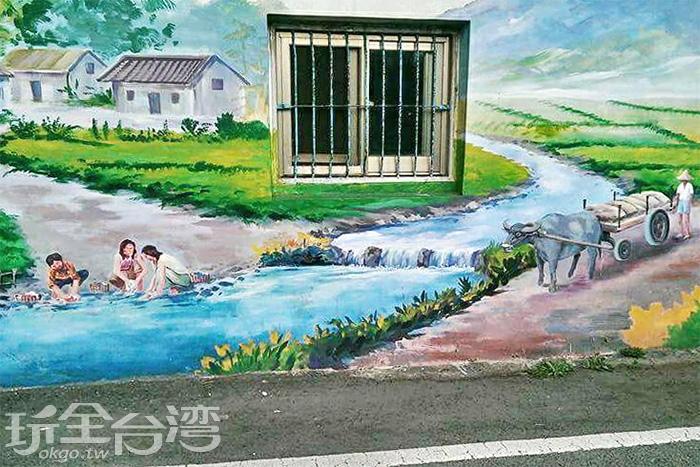 勤儉的婦女們在溪流邊洗滌衣服,一點都不浪費水資源呢!/玩全台灣旅遊網特約記者攝