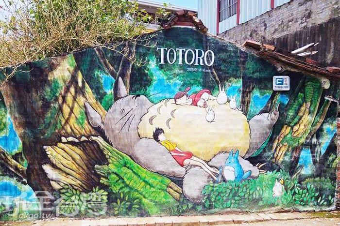 在龍貓圓滾滾的肚皮上睡午覺,想必一定超級舒服的。/玩全台灣旅遊網特約記者攝