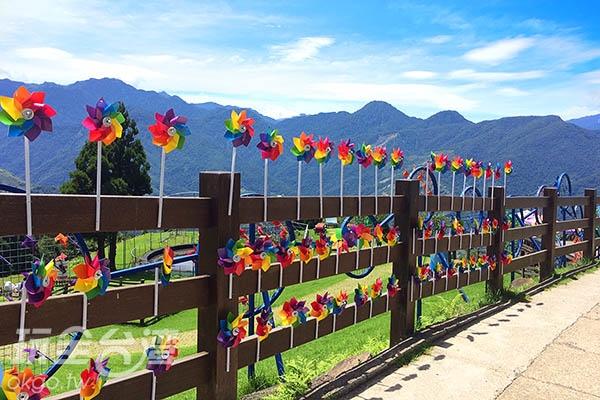 美麗的彩虹風車就在清境農場等著你到來!/玩全台灣旅遊網攝