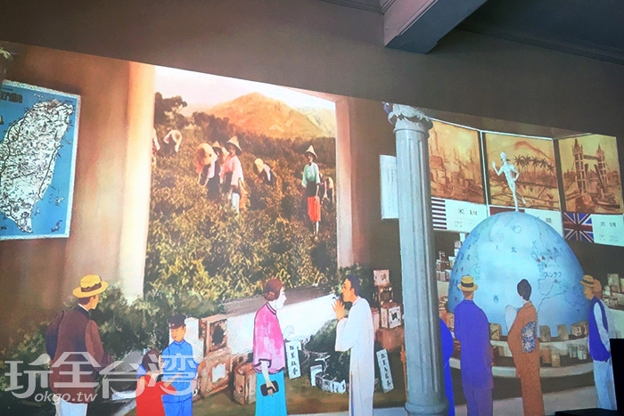利用投影的技術讓你可以一邊欣賞一邊體驗繁華的年代/玩全台灣旅遊網攝