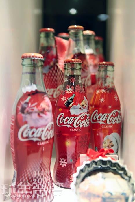可口可樂瓶身會依照不同主題或季節打造出專屬紀念瓶/玩全台灣旅遊網特約記者A-he攝