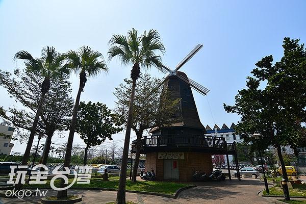 歐洲村位於大村車站旁/玩全台灣旅遊網特約記者陳欣瑩攝