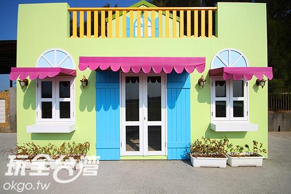 可愛的小屋是許多人前來外拍的景點/玩全台灣旅遊網攝