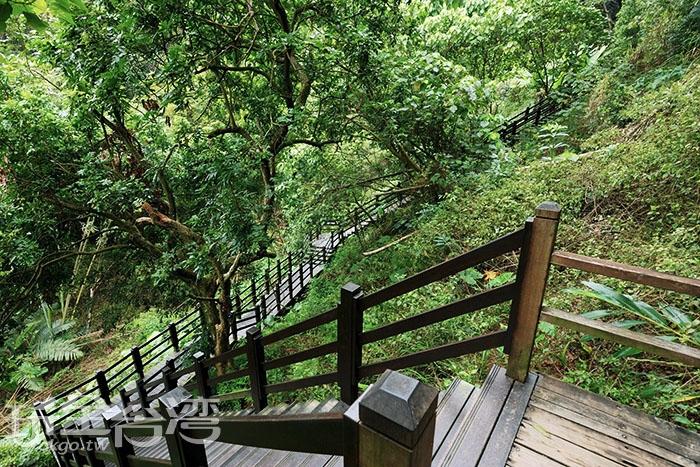 沿途有著木棧階梯安全又好爬!/玩全台灣旅遊網特約記者吳明倫攝