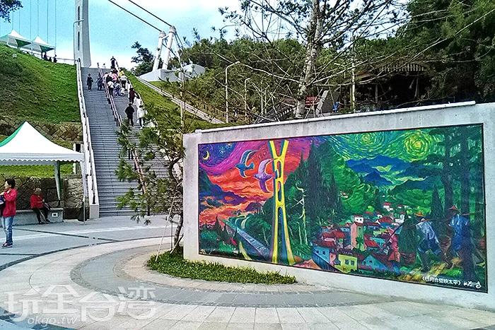 壁畫也是充滿在地特色/玩全台灣旅遊網特約記者阿湖攝