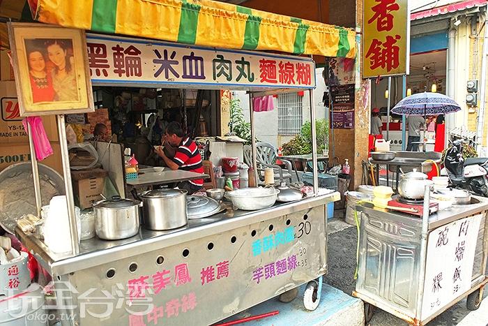 貓巷巷口的人氣肉丸攤曾受過電視節目採訪/玩全台灣旅遊網特約記者阿辰攝