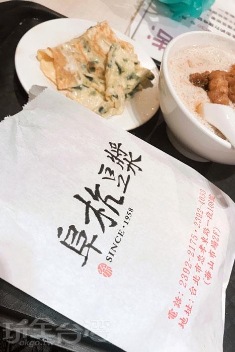 現烤的烤餅加上研磨豆漿,濃醇的味道讓人回味無窮/玩全台灣旅遊網特約記者風中一枝花攝
