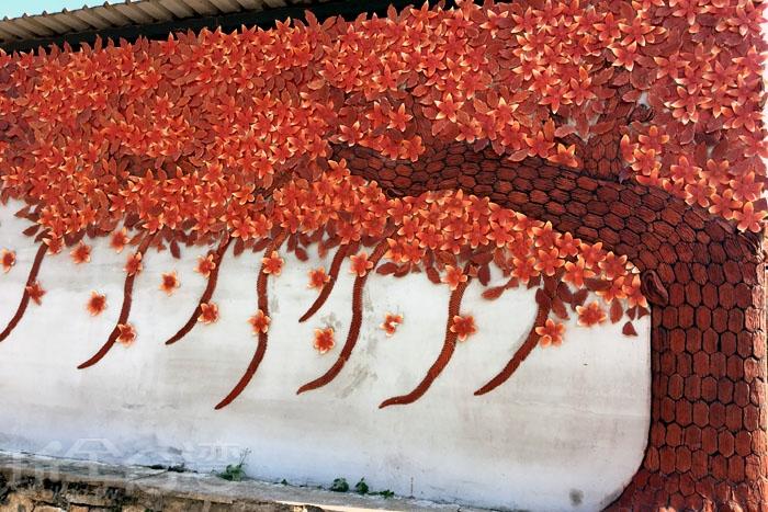 瓊林紅磚牆/玩全台灣旅遊網特約記者郭小花攝