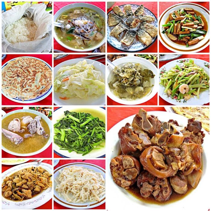 美味道地的滿滿一桌菜,果然吃飽就是最幸福的事呀!/玩全台灣旅遊網特約記者阿辰攝