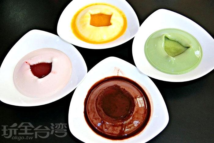 豆腐酪低卡低熱量,有多種口味可以任君選擇,口感冰涼滑嫩、甜而不膩,大朋友小朋友都喜歡。/玩全台灣旅遊網特約記者阿辰攝