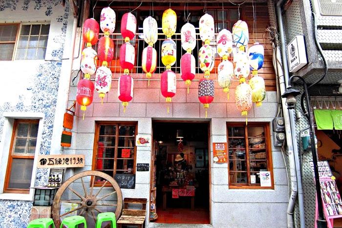 台南市文化協會,五條港行號,門前高掛著漂亮的燈籠。/玩全台灣旅遊網特約記者阿辰攝