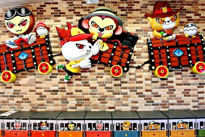 以可愛動物刻劃不同性格的吉祥物。/玩全台灣旅遊網特約記者阿辰攝