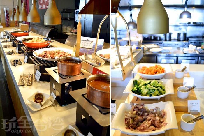 中西式熱食料理皆有,菜色也還不少~/玩全台灣旅遊網特約記者阿辰攝