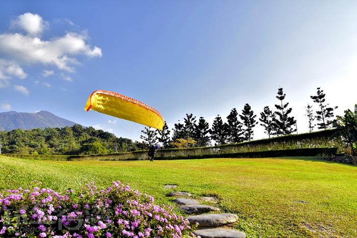 在這裡可以看見整個埔里小鎮迷人景色/玩全台灣旅遊網特約記者阿辰攝