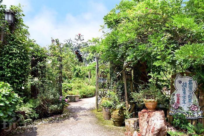 這裡是尖石的山林秘境裡的「紅薔薇景觀花園」/玩全台灣旅遊網特約記者阿辰攝