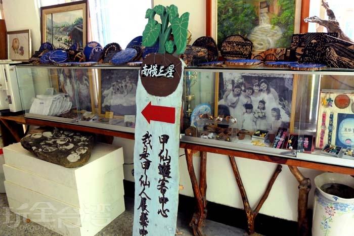 還有許多手工藝品展示讓旅人欣賞/玩全台灣旅遊網特約記者阿辰攝