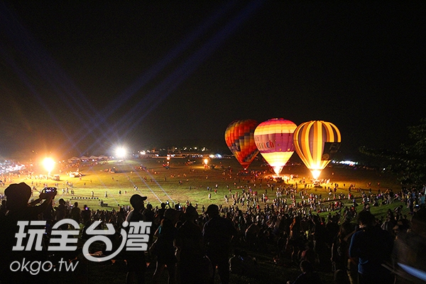 熱氣球光雕音樂會/玩全台灣旅遊網攝