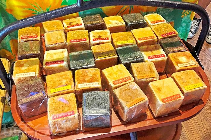 方塊吐司模樣迷你可愛,很適合拿來當下午茶點充飢,有多種口味可以選擇 /玩全台灣旅遊網特約記者阿辰攝