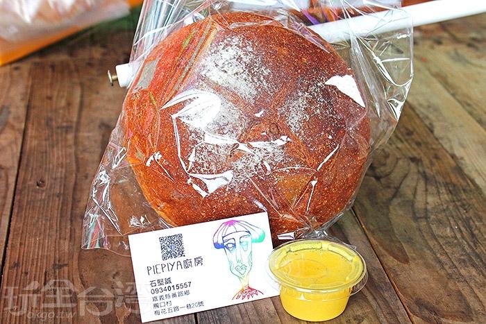 PIEPLYA 紅藜核果麵包+起司咖哩醬/玩全台灣旅遊網特約記者阿辰攝