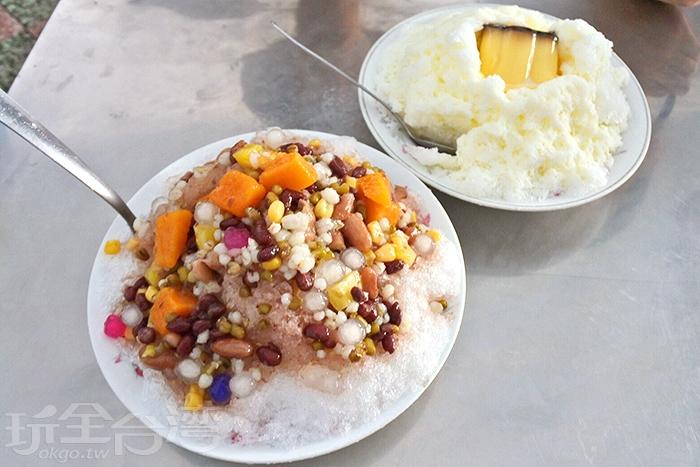現場許多人都點了必點的招牌八寶冰,料多實在,價格也合理,夏天吃冰最棒啦!/玩全台灣旅遊網特約記者阿辰攝