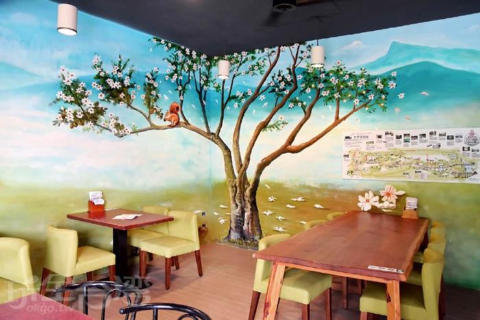 六份人文茶館-用餐空間/玩全台灣旅遊網特約記者小玉兒攝