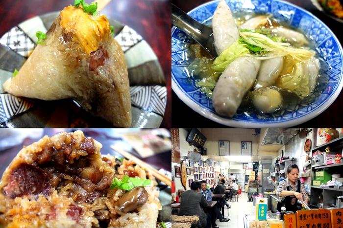 肉粽真材實料,配料又豐富,怪不得賣這麼久客人還是很愛吃也不嫌貴/玩全台灣旅遊網特約記者阿辰攝