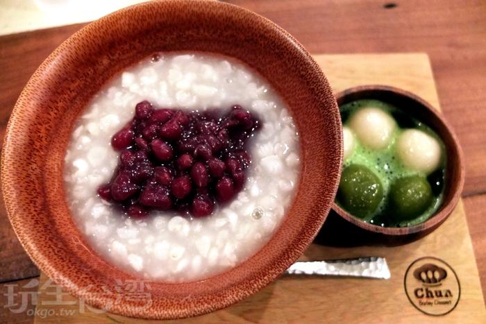 紅豆與薏仁一同入口,融合出很單純的香氣,紅豆不會煮到太軟爛,和薏仁搭配起來是一致的/玩全台灣旅遊網特約記者阿辰攝